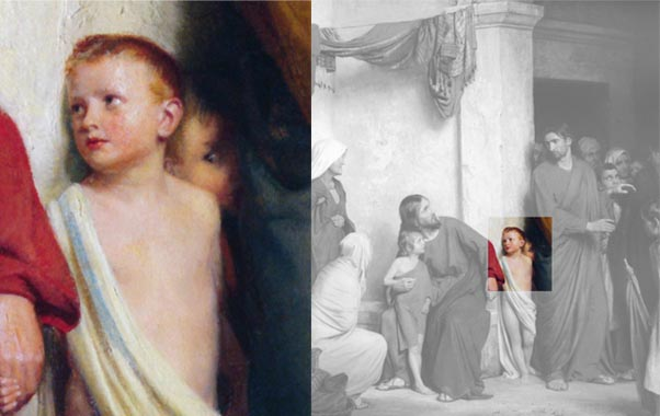 Bloch-Jesus-and-Children-child-detail