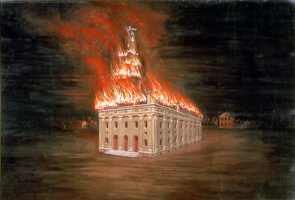 Burning of the Temple by C.C.A. Christensen