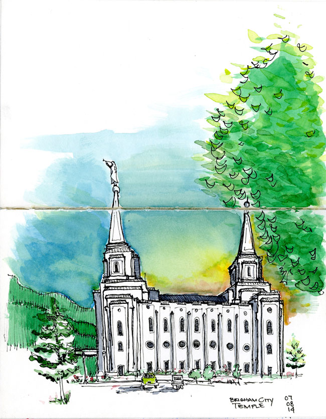 Brigham-City,-Utah---LDS-Temple---Color