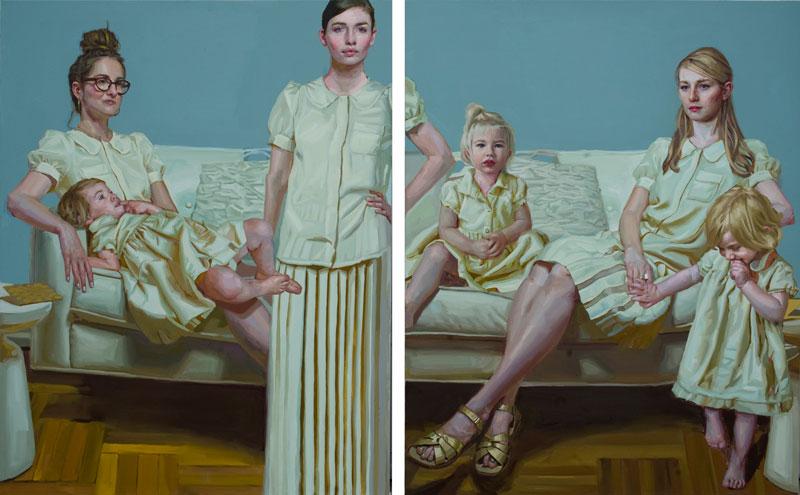 Figures.Contemporary+Motherhood.oil+on+canvas