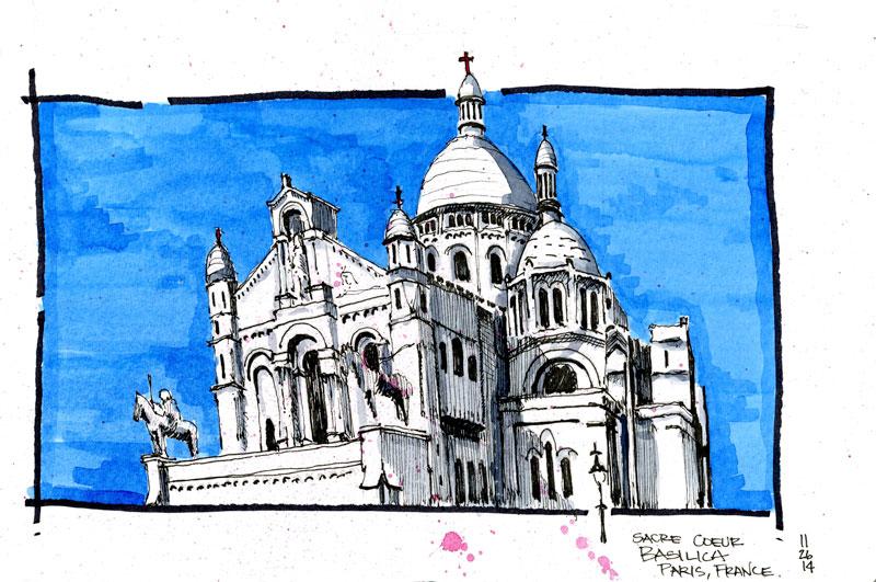Paris,-France---Sacre-Coeur---Color---from-image