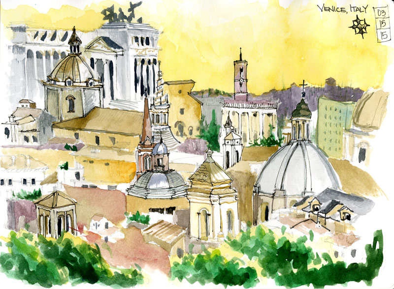 Venice,-Italy---Classroom-Sketch