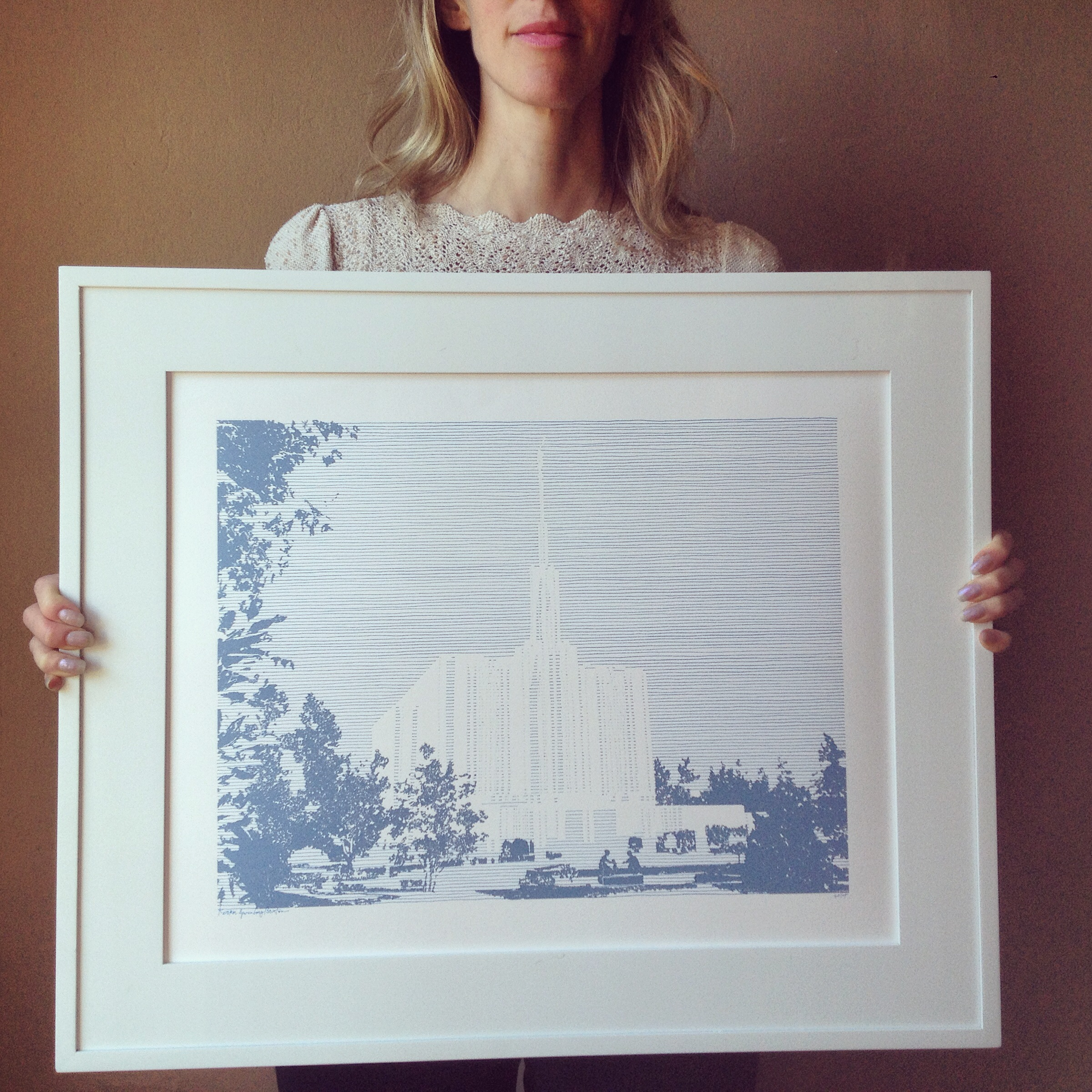 TOTC_K Sparenborg Brinton_Seattle LDS Temple_Original Drawing_TurnoftheCenturies