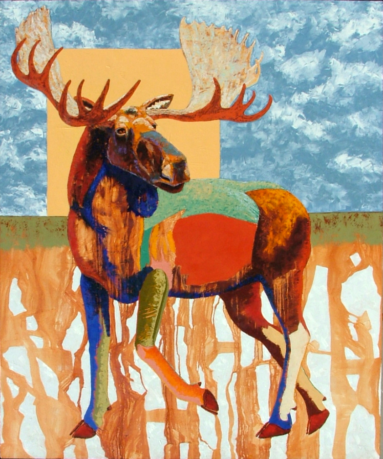 Blue Beard Bull 72x60 oil on gallery wrapped canvas $8400